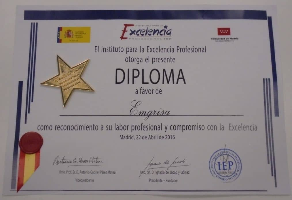 professional excellence award