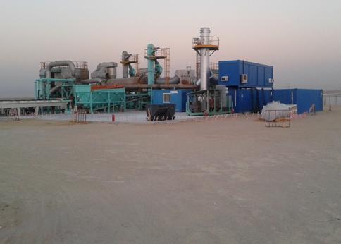 Unidad de Desorción Térmica de Emgrisa en Kuwait