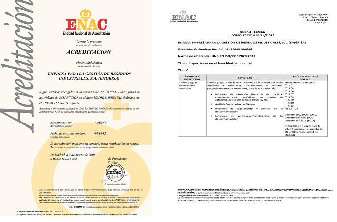 ENAC amplía el alcance de acreditación a Emgrisa