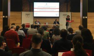 Grupo de personas en Jornada de debate sobre los Retos económicos para alcanzar el buen estado de las aguas
