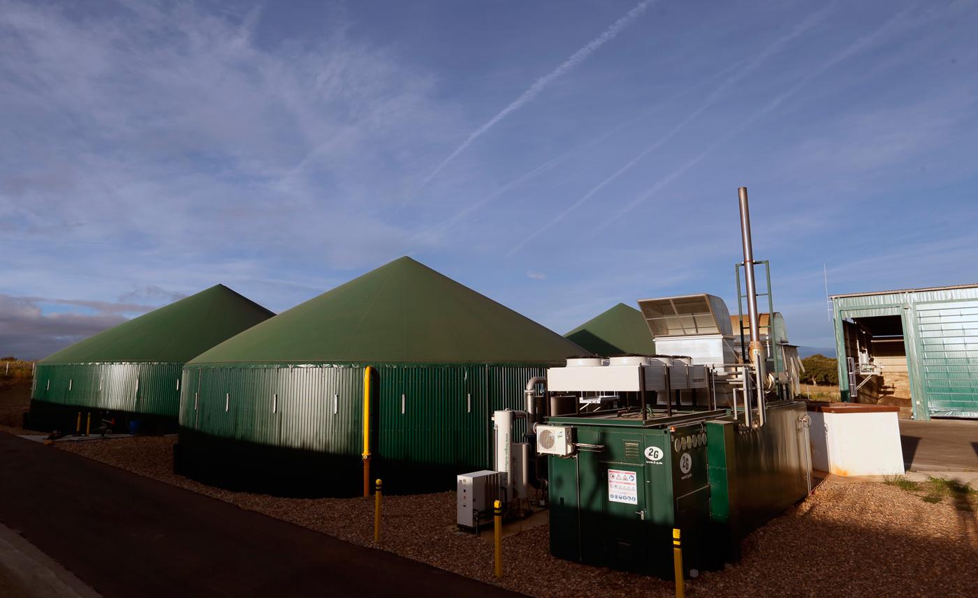 Planta de generación de biogas y biometano