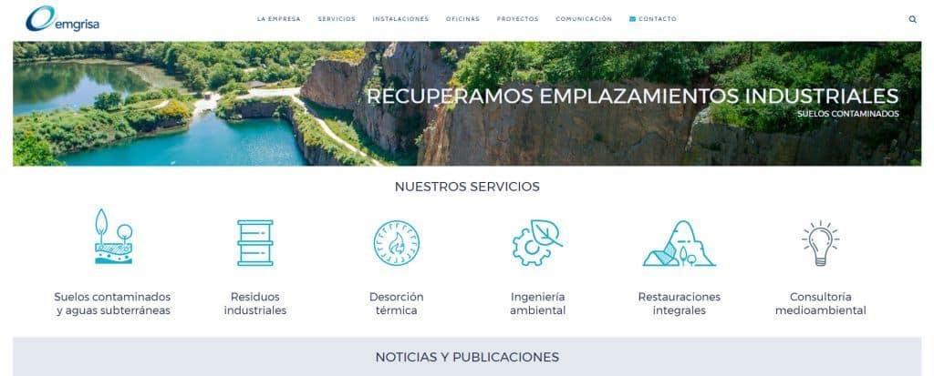 Emgrisa presenta nueva página web