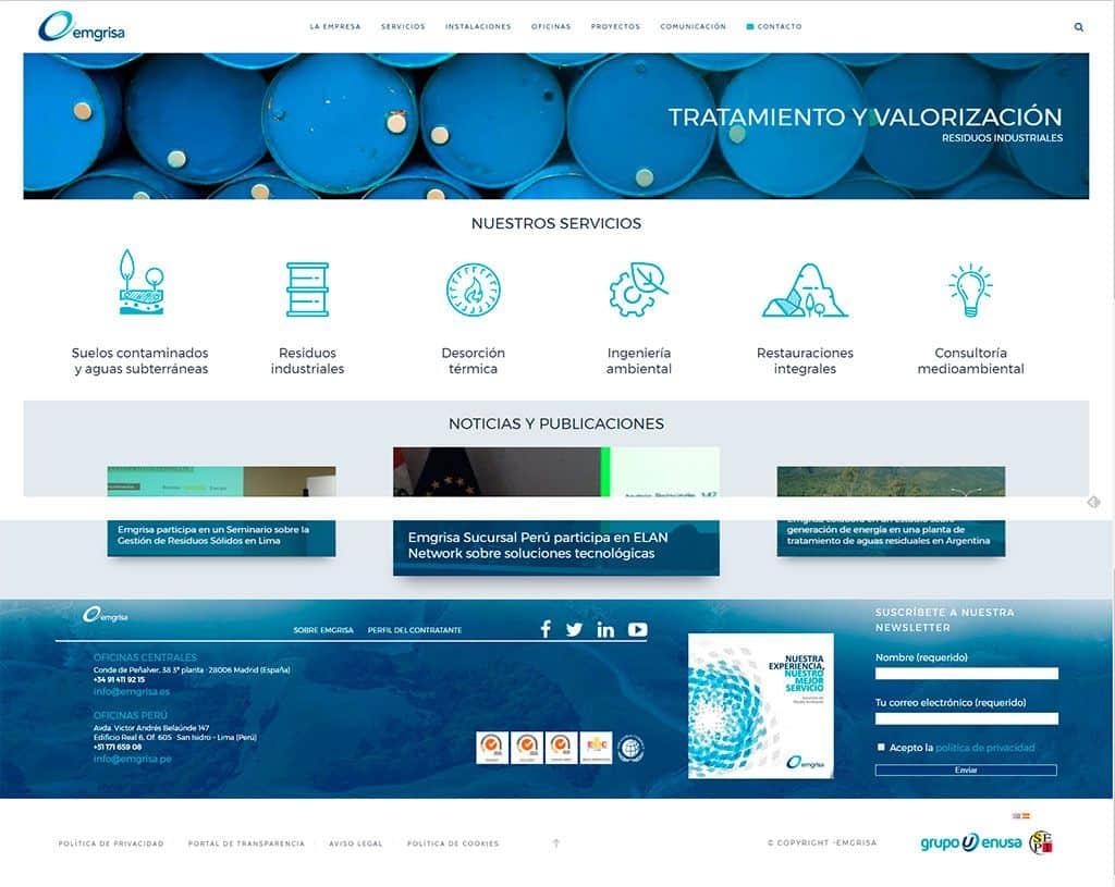 Nueva página web de Emgrisa